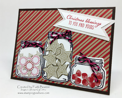 Stampin' Up! Jars of Love Bundle, Stamping to Share, Christmas Card