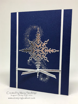 Stampin' Up! Star of Light Bundle, Stamping to Share, Christmas Card