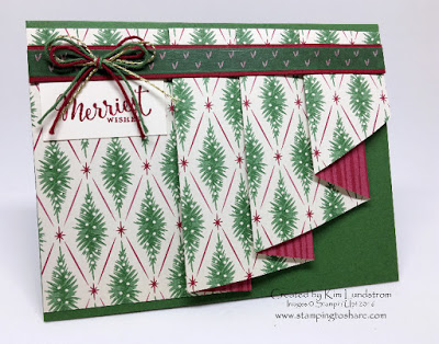 Stampin' Up! Pleated Drapery Fold, Stamping to Share, Merriest Wishes, Christmas Card