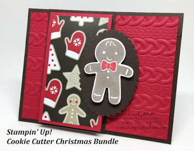 Make a Cute Stampin' Up! Flip Up Gingerbread Card with How To Video
