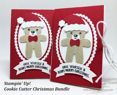 Make a Cute Envelope Gift Card Holder with the Stampin' Up! Cookie Cutter Christmas Bundle