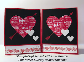Sealed with Love Bundle for an Easy and Elegant Valentine by Kay Kalthoff, Stamping to Share.
