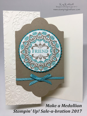 Create an Elegant Medallion Card! New Sale-a-bration Items! Includes Video!