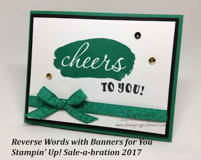 Stampin' Up! Reverse Words and Banners for You St. Patrick's Day Card by Kay Kalthoff with Stamping to Share
