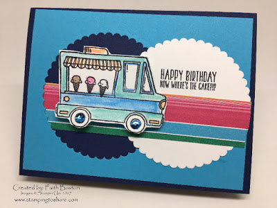Stampin' Up! Tasty Trucks Card created by Faith Boston for Stamping to Share