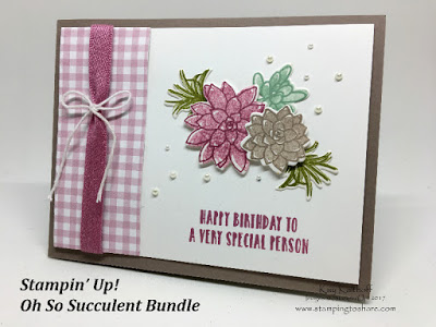 Oh, So Succulent Birthday Box with the Window Box Thinlits and the Succulent Thinlits from Stampin' Up! Stamping to Share, Kay Kalthoff