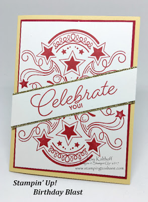 Stampin' Up! Birthday Blast for a cute Graduation Card, Kay Kalthoff, Stamping to Share, Video Tutorial