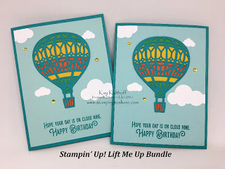 Stampin' Up! Lift Me Up Bundle Card Idea by Kay Kalthoff from Stamping to Share