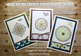 Fab Friday Facebook Live Stamp and Chat with Kay Kalthoff featuring the Eastern Palace Starter Bundle from Stampin' Up!