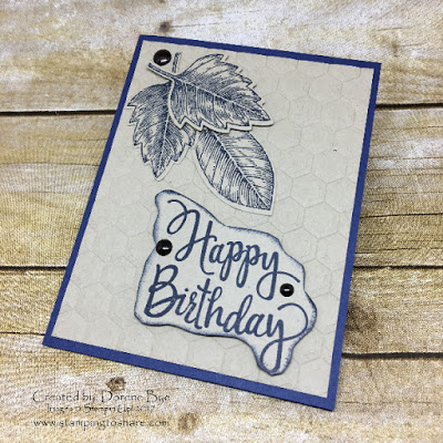 Stampin' Up! Stylized Birthday with Vintage Leaves created by Dorene Bye