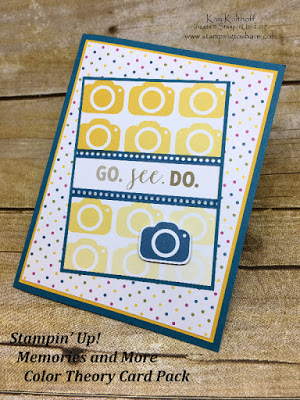 Stampin' Up! Memories and More Color Theory Card Pack Card by Kay Kalthoff with Stamping to Share.