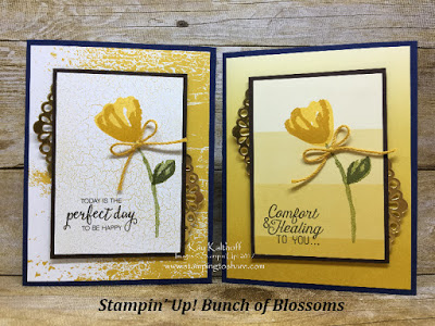 Stampin' Up! Bunch of Blossoms over Color Theory Paper with How To Video