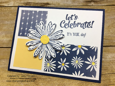 Stampin' Up! Daisy Delight Bundle. Card by Judy Hamen, created for Stamping to Share July Demo Meeting Swap.