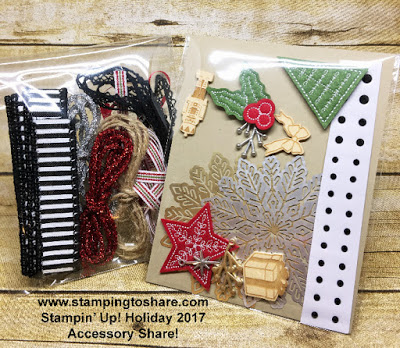 Stampin' Up! 2017 Holiday Accessory Share by Kay Kalthoff with Stamping to Share.