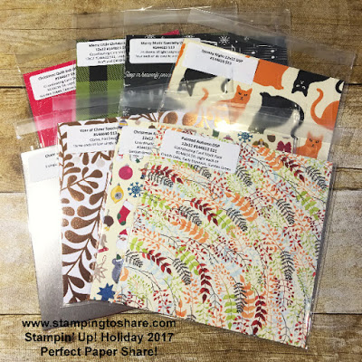 Stampin' Up! Holiday 2017 Perfect Paper Share by Kay Kalthoff with Stamping to Share