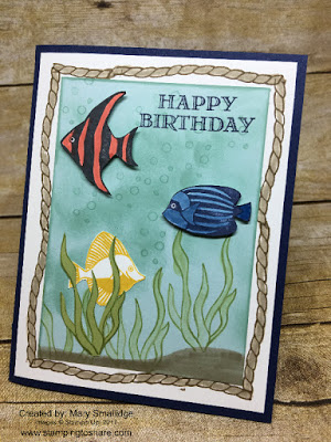 Created by Mary Smallidge with Stampin' Up! Seaside Shore for Stamping to Share.