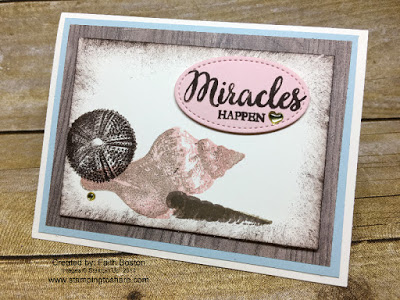 Stampin' Up! So Many Shells created by Faith Boston for Stamping to Share July Demo Meeting Swap.