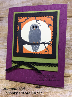 How to Make a Stampin' Up! Spooky Cat OWL Card with How To Video
