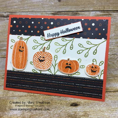 Stampin' Up! Pick a Pumpkin Bundle card by Mary Smallidge for Stamping to Share Demo Meeting Swap.