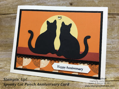 Cute Stampin' Up! Cat Punch Anniversary Card created by Kay Kalthoff with Stamping to Share.