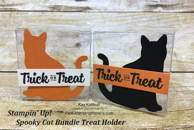 Stamping to Share Fall Flair 2017 Spooky Cat Bundle Clear Tiny Treat Boxes.