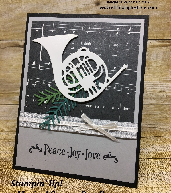 Stampin' Up! Musical Season Christmas Card – Stepped Up Elegance! How To Video Included!