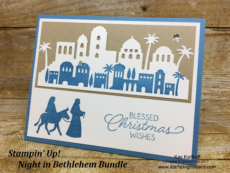 Make an Elegant Card with the Stampin' Up! Night in Bethlehem Bundle