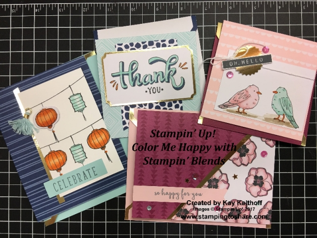 Color Me Happy with Stampin' Blends from Stampin' Up! Created by Kay Kalthoff with #stampingtoshare