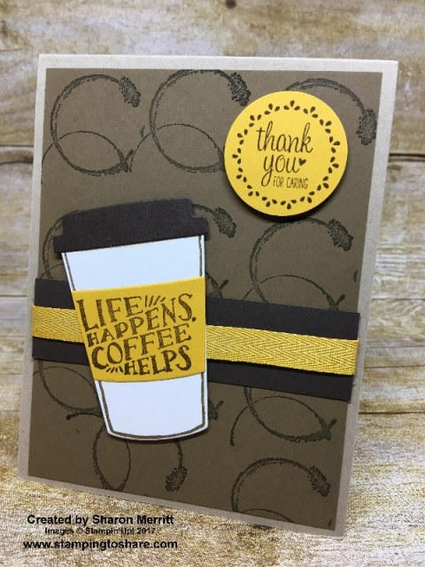 Stampin' Up! Coffee Cafe created by Sharon Merritt for #stampingtoshare demo meeting swap.