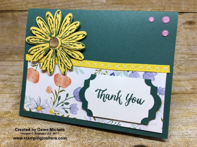 Stampin' Up! Daisy Delight card created by Dawn Michels for #stampingtoshare demo meeting swap