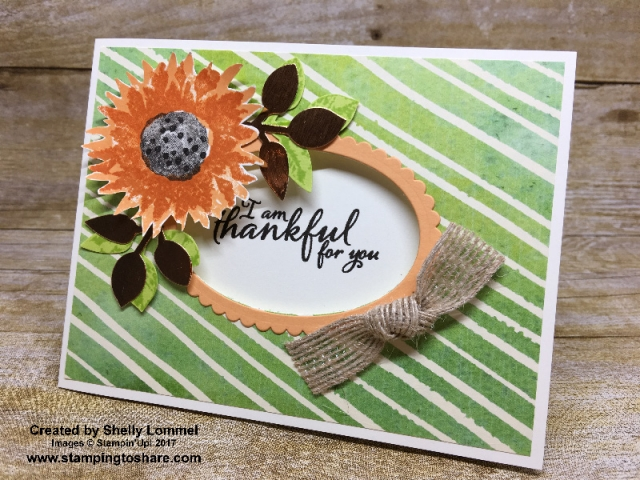 Stampin' Up! Painted Harvest card created by Shelly Lommel for Stamping to Share Demo Meeting Swap. #stampingtoshare