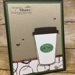 Cute Thanks a Latte card with the Stampin