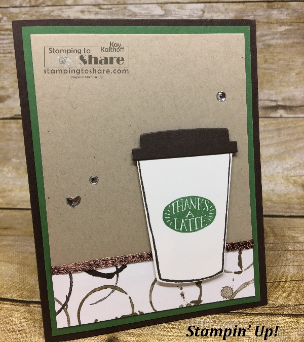 How to Make a Thanks a Latte Card with the Coffee Cafe Bundle! Includes Video!