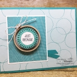 A Good Day Birthday Card with a Mini Embroidery Hoop by Kay Kalthoff. Includes a How To Video. #stampingtoshare