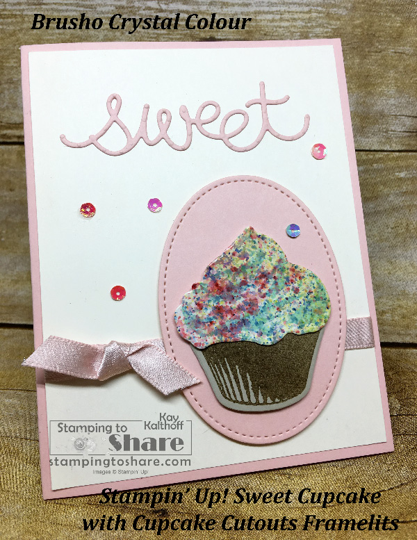 How to Make a Sweet Cupcake Card with Brusho Frosting! Includes How To Video!