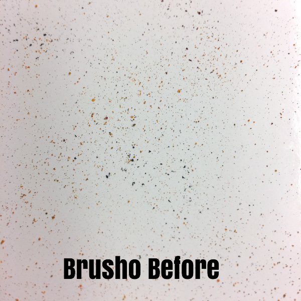 "A Picture of Brusho Crystal Colour on Glossy White Card Stock before it is ""spritzed."" Kay Kalthoff with #stampingtoshare"