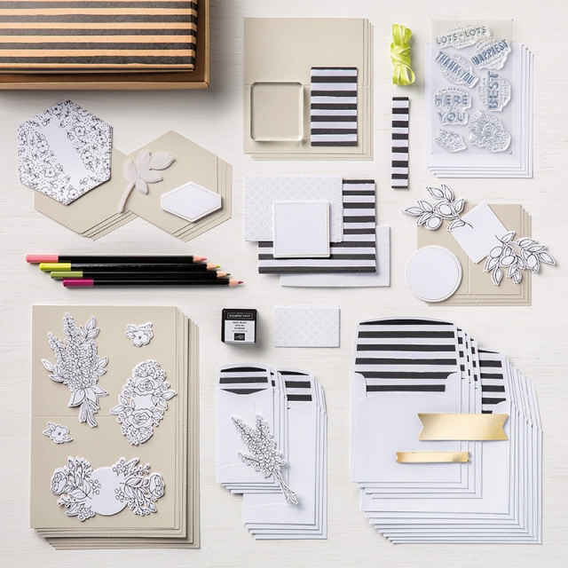 Lots of Happy Card Kit from Stampin' Up! How to Assemble by Kay Kalthoff with #stampingtoshare How To Video included