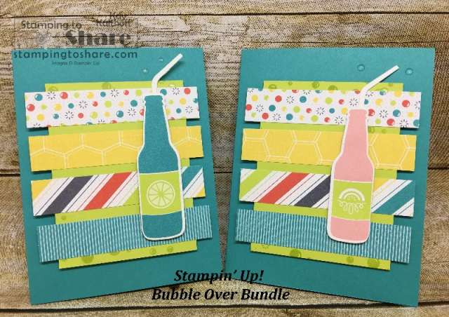 How to Make a Card with the Stampin' Up! Bubble Over Bundle by Kay Kalthoff with #stampingtoshare Includes the How To Video