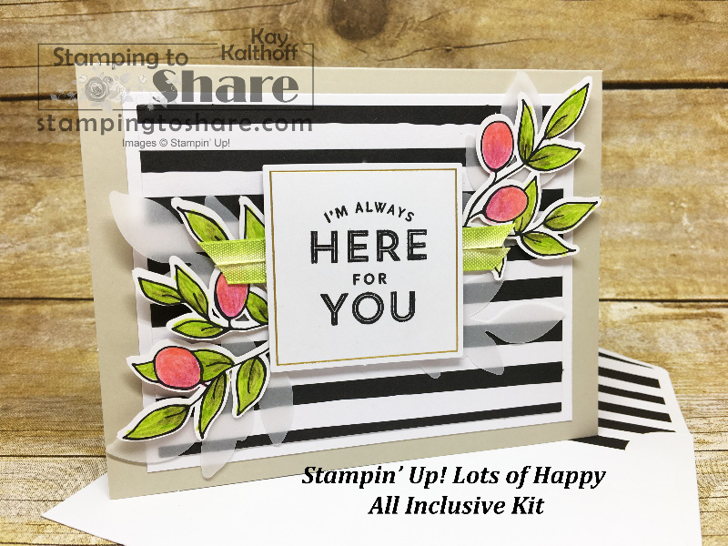 How to Assemble the Stampin' Up! Lots of Happy Kit – Video Tutorial