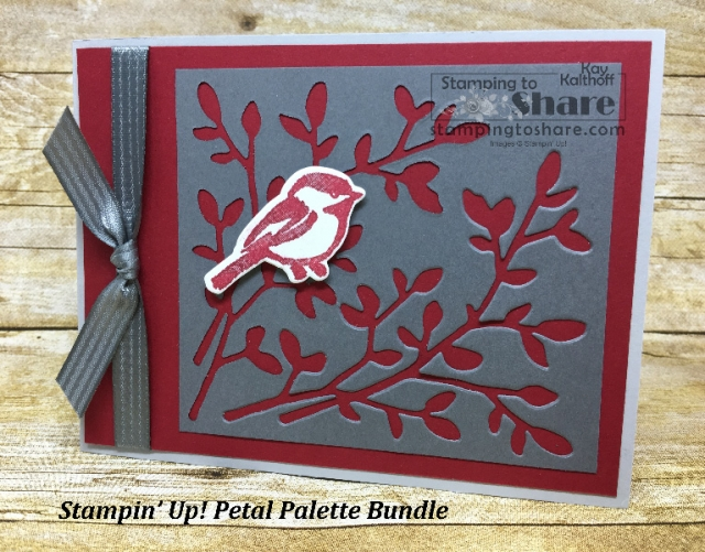 A Stampin' Up! Petal Palette Bundle card made using scraps. Created by Kay Kalthoff at #stampingtoshare Includes How To Video