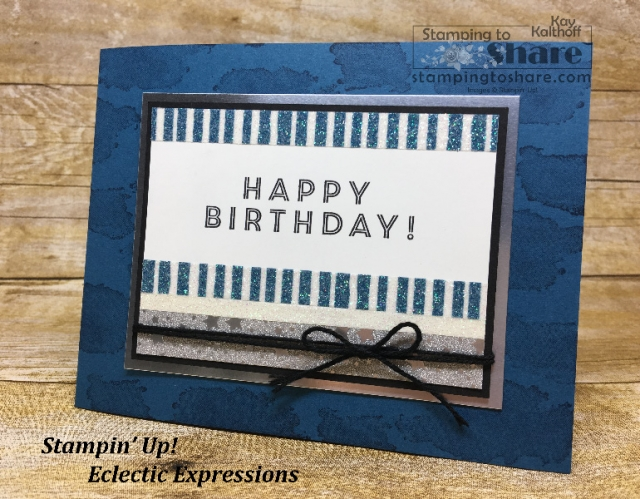 Create a sparkling birthday card with the Myths and Magic Washi Tape from Stampin' Up! Created by Kay Kalthoff with #stampingtoshare