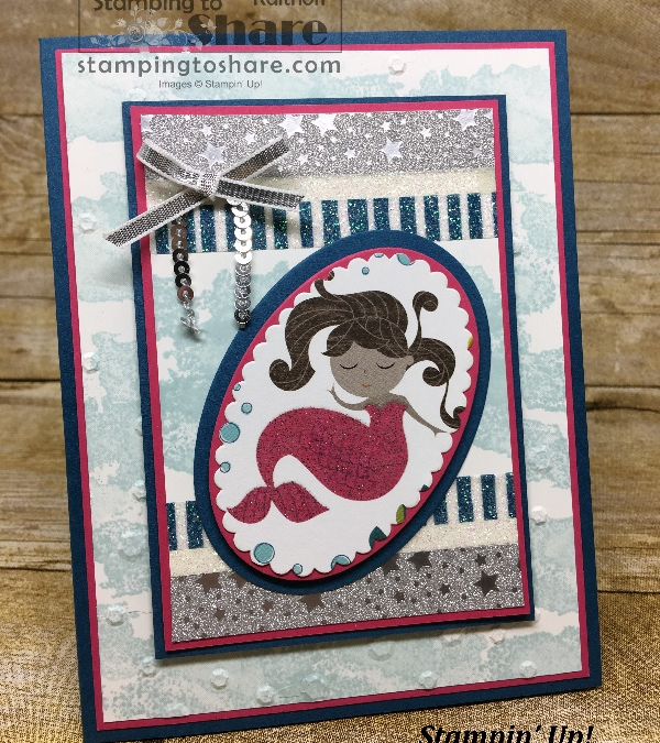 Myths & Magic Nine Layer Mermaid Card with Eclectic Expressions – Includes How To Video!!