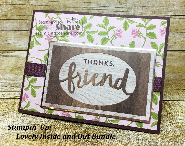 How to Make a Card with Stampin' Up! Lovely Inside and Out Bundle with Video
