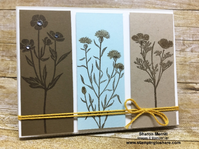 Created by Sharon Merritt, March 2018 #stampingtoshare Demo Meeting Swap Card using Stampin' Up! Wild About Flowers