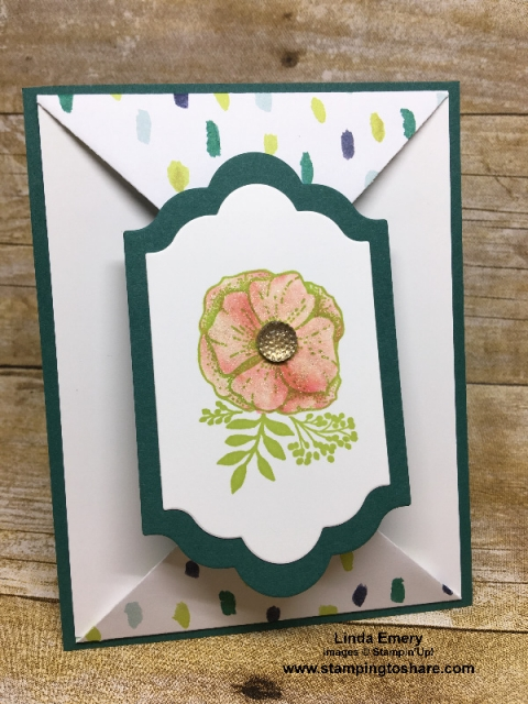 Created by Linda Emery, March 2018 #stampingtoshare Demo Meeting Swap Card using the Stampin' Up! Amazing You stamp set