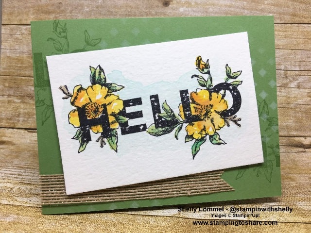 Created by Shelly Lommel, March 2018 #stampingtoshare Demo Meeting Swap Card using Stampin' Up! Floral Statements