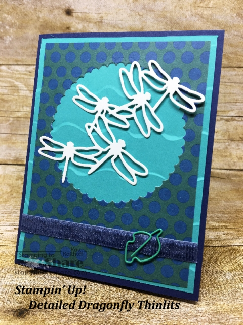 Stampin' Up! Masculine Detailed Dragonfly Card created by Kay Kalthoff for #stampingtoshare