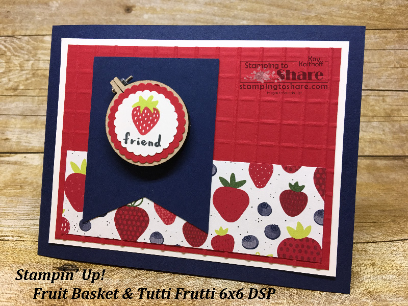 #20 Fab Friday FB Live: Make a Strawberry Card with Fruit Basket!