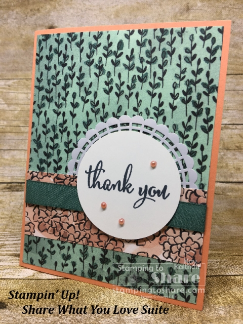 Stampin' Up! Share What You Love on Grapefruit Grove created by Kay Kalthoff for #stampingtoshare