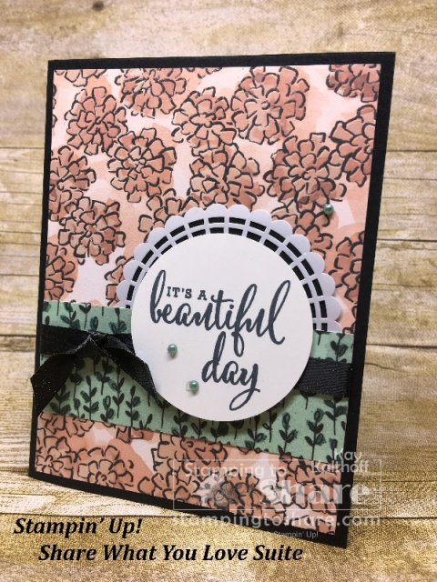 Stampin' Up! Share What You Love on Basic Black created by Kay Kalthoff for #stampingtoshare